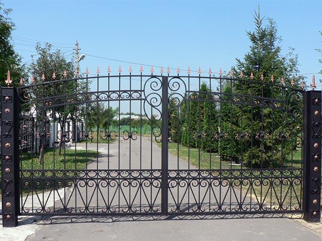 Ворота кованые в Мозыре