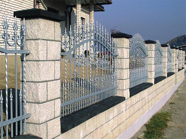 Комбинированный забор в Мозыре