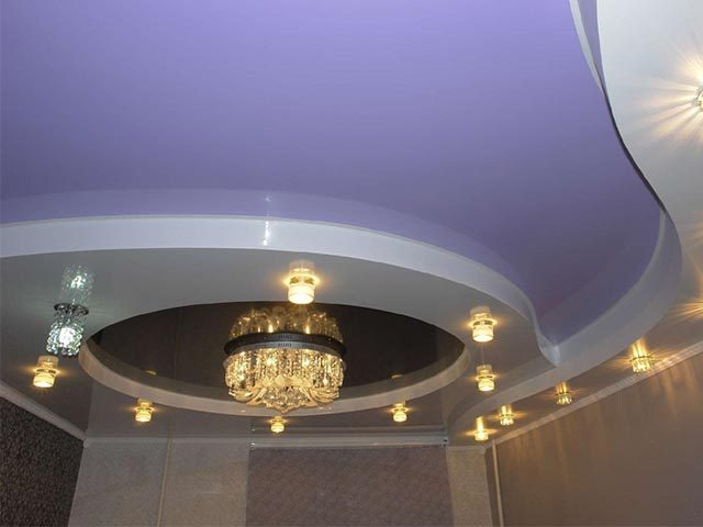 Двухуровневые натяжные потолки в Мозыре