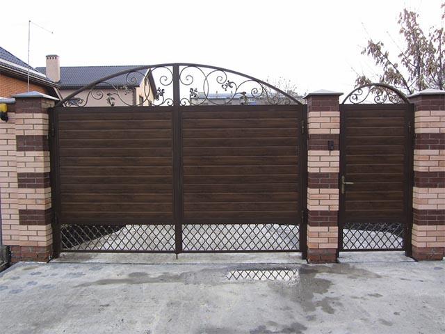 Металлические ворота в Мозыре