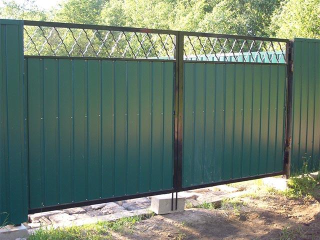 Распашные ворота в Мозыре