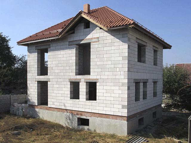 Строительство частного газосиликатного дома в Мозыре